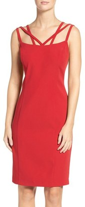 Women's Laundry By Shelli Segal Strappy Neck Sheath Dress $148 thestylecure.com