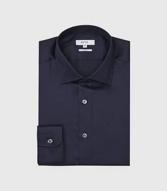 Reiss Remote - Slim Fit Single Cuff Shirt in Navy