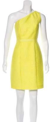 Halston Cloqué One-Shoulder Dress