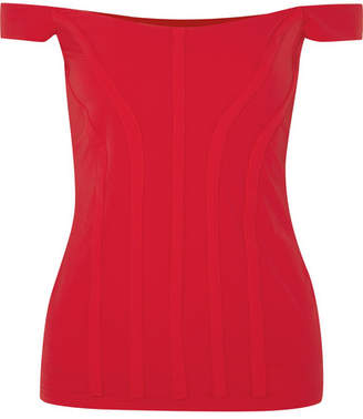Ellery Yandex Off-the-shoulder Stretch-cady Bustier Top - Red