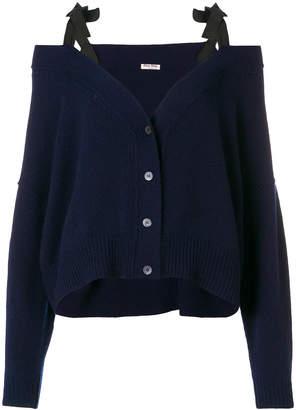 Miu Miu cashmere cold shoulder cardigan