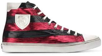 Saint Laurent striped Bedford sneakers