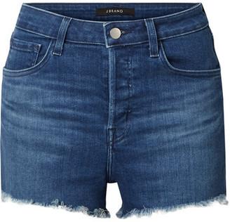 J Brand Gracie Distressed Denim Shorts - Dark denim
