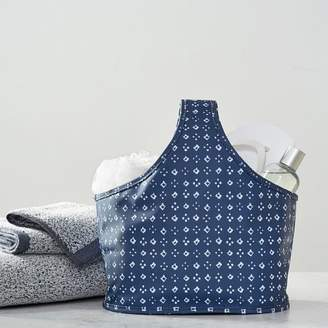 Pottery Barn Teen Deluxe Diamond Dot Bath Tote Set, Navy