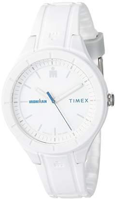 Timex TW5M17400 Ironman Essential Urban Analog 38mm White/Blue Silicone Strap Watch