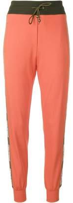 Mr & Mrs Italy logo tape track pants