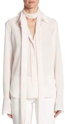 Chloé Silk Tie Neck Blouse
