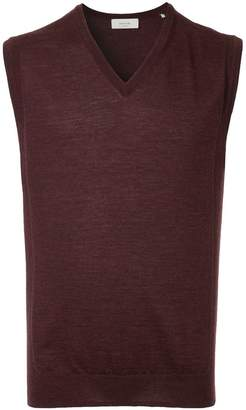 Cerruti sleeveless fitted sweater
