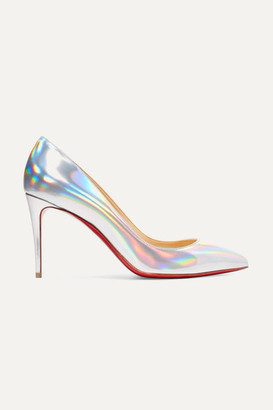 b194511069f7 Christian Louboutin Pigalle Follies 85 Iridescent Leather Pumps - Metallic