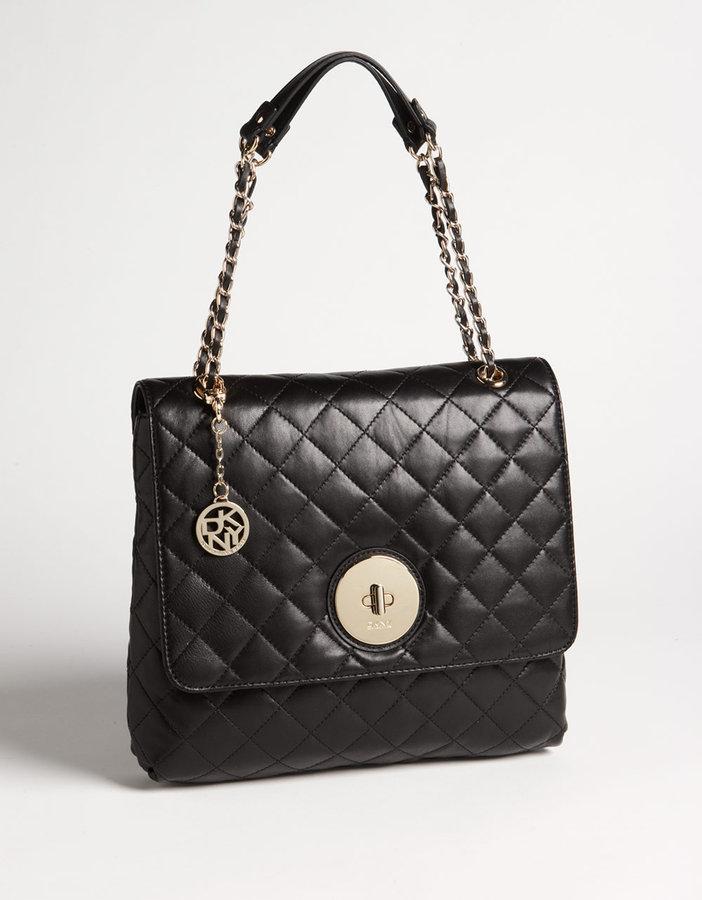 DKNY Leather Flap Shoulder Bag