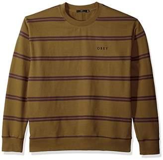 Obey Men's Turner Crew Neck Fleece Sweatshirt
