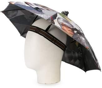 Fendi printed umbrella hat