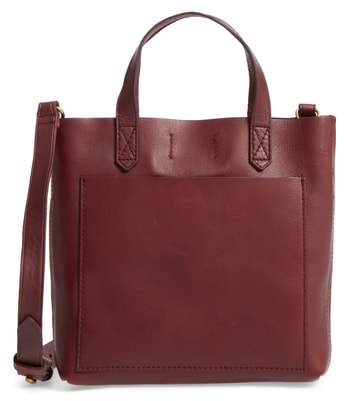 Madewell Small Transport Leather Crossbody Bag - Burgundy