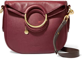 See by Chloe Monroe Medium Textured-leather Tote - Claret