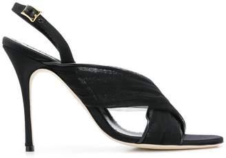 Manolo Blahnik Drapia 105 tulle sandals