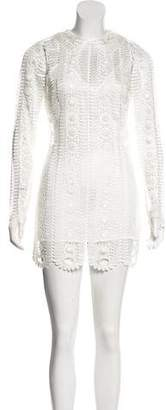 Alice McCall Crocheted Mini Dress