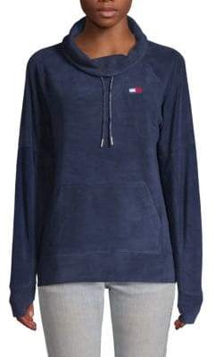 Tommy Hilfiger Draped-Neck Drawstring Sweater