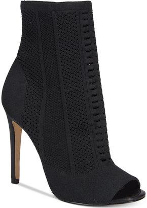 ALDO Women's Keshaa Peep-Toe Knit Bootie $110 thestylecure.com