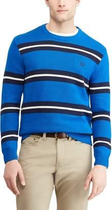 Chaps Men's Regular-Fit Striped Crewneck Sweater