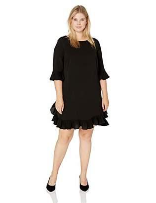 c944e32e7d9 MSK Women s Plus Size Day to Evening Ghost Crepe Ruffle Hem Dress