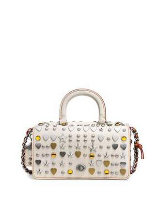 Coach 1941 Dinky Double Studded Top-Handle Shoulder Bag $850 thestylecure.com