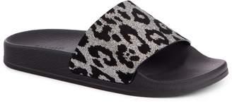 Balmain Calypso Leopard Print Slide Sandal