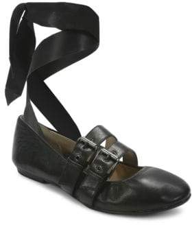 c3d2e4149b82c Sari Lace-Up Nappa Leather Ballet Flats