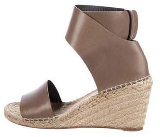 Céline Bicolor Leather Wedges