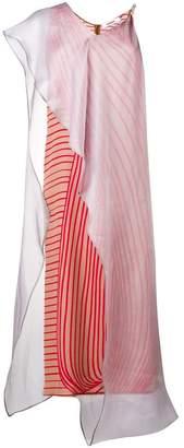 Chalayan layer stripe dress