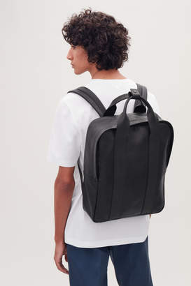Cos GRAINED LEATHER TOTE BACKPACK
