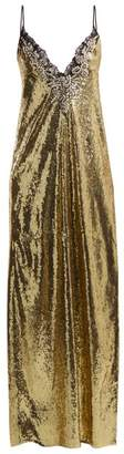 Dundas - Sequin And Crystal Embellished Gown - Womens - Black Gold