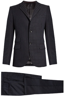 Gucci Monaco cotton-blend jacquard suit