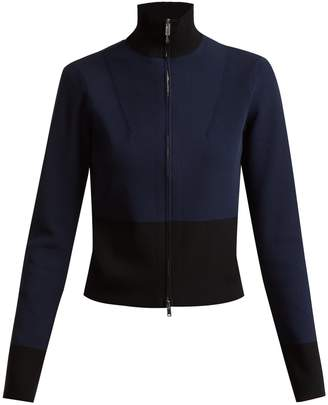 COLVILLE Long-sleeved panelled-back sweater