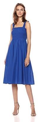Serene Bohemian Women's Strap Dress with Smocking Detail (M)