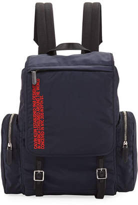 Calvin Klein Men's Logo Typographic Flap-Top Backpack