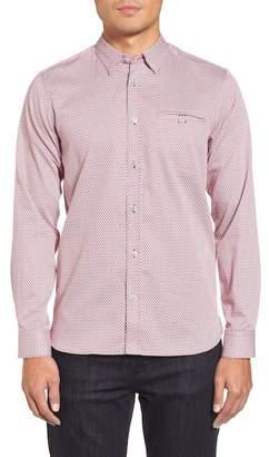 Ted Baker Vilamor Extra Slim Fit Print Sport Shirt