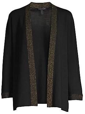 Eileen Fisher Women's Trimmed Wool Cardigan