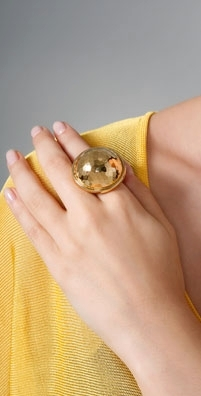 Bing Bang Faceted Moon Ring