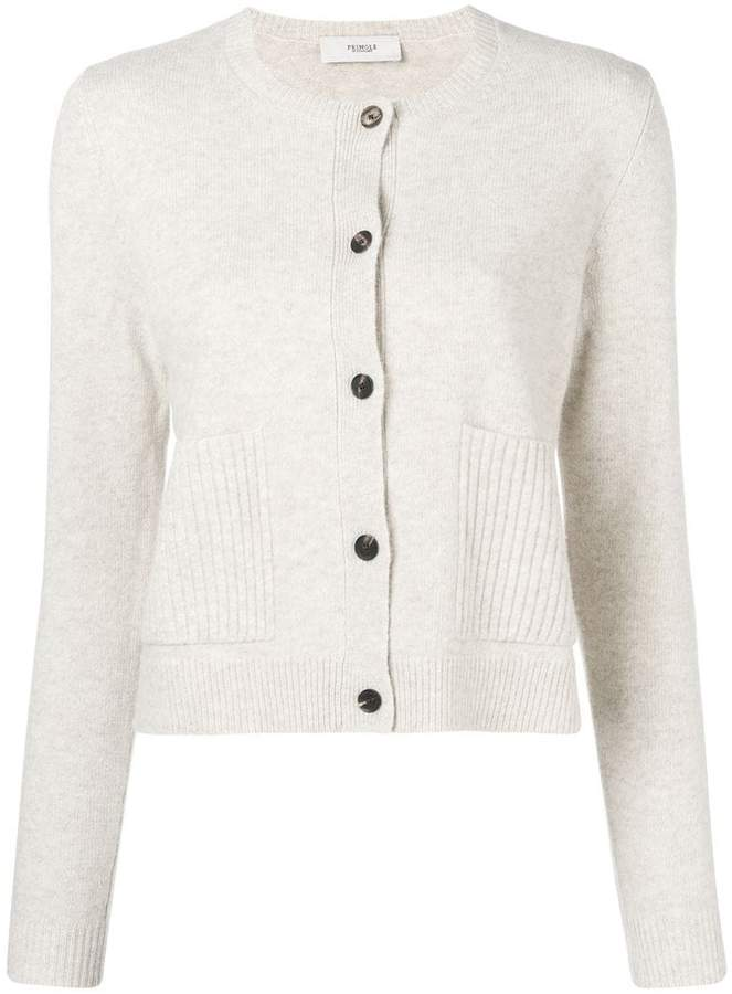 long-sleeve fitted cardigan