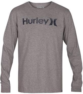 Hurley Men's One and Only Push Thru Graphic Long Sleeve Tee Shirt