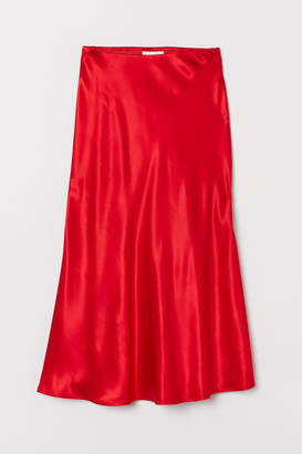 H&M Satin Skirt - Red