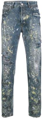 Marcelo Burlon County of Milan dark splatter jeans