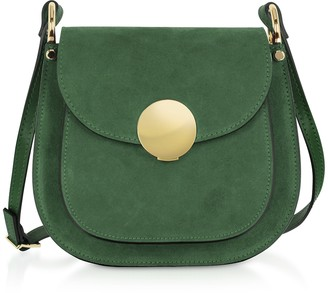 Le Parmentier Agave Suede and Smooth Leather Shoulder Bag