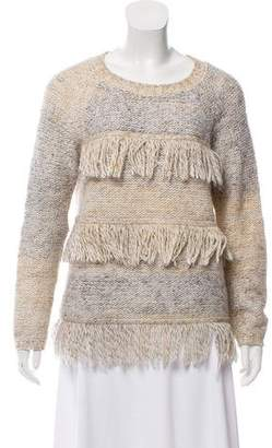 Soft Joie Fringe-Accent Knit Sweater