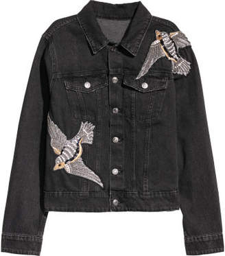 H&M H&M+ Denim Jacket - Black
