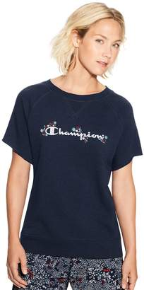 Champion Women's Heritage French Terry Short Sleeve Top