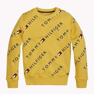 Tommy Hilfiger Sports All-Over Logo Print Sweater