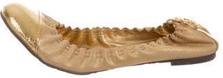 Tory BurchTory Burch Leather Cap-Toe Flats