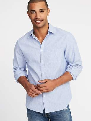 Old Navy Regular-Fit Linen-Blend Shirt for Men