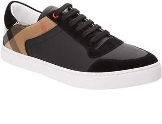 Burberry Reeth Leather & House Check Sneaker
